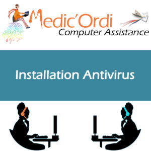 Carte d'assistance informatique en ligne installation d'antivirus