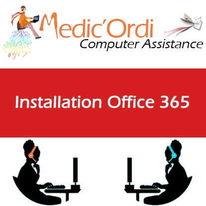 Carte d'assistance informatique en ligne installation de MS Office 365